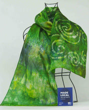 Load image into Gallery viewer, Silk Scarf Celtic Green Finch