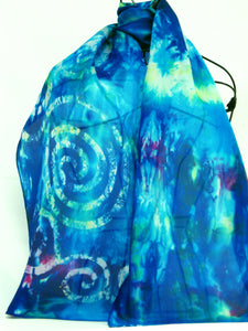 Silk Scarf Celtic Midnight Turquoise