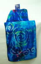 Load image into Gallery viewer, Silk Scarf Celtic Midnight Turquoise