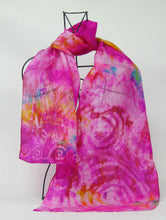 Load image into Gallery viewer, Silk Scarf Celtic Pink Surprise