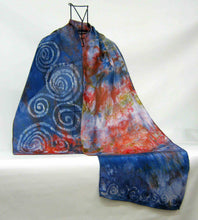 Load image into Gallery viewer, Silk Scarf The Swallow Spiral