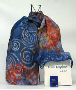 Silk Scarf The Swallow Spiral