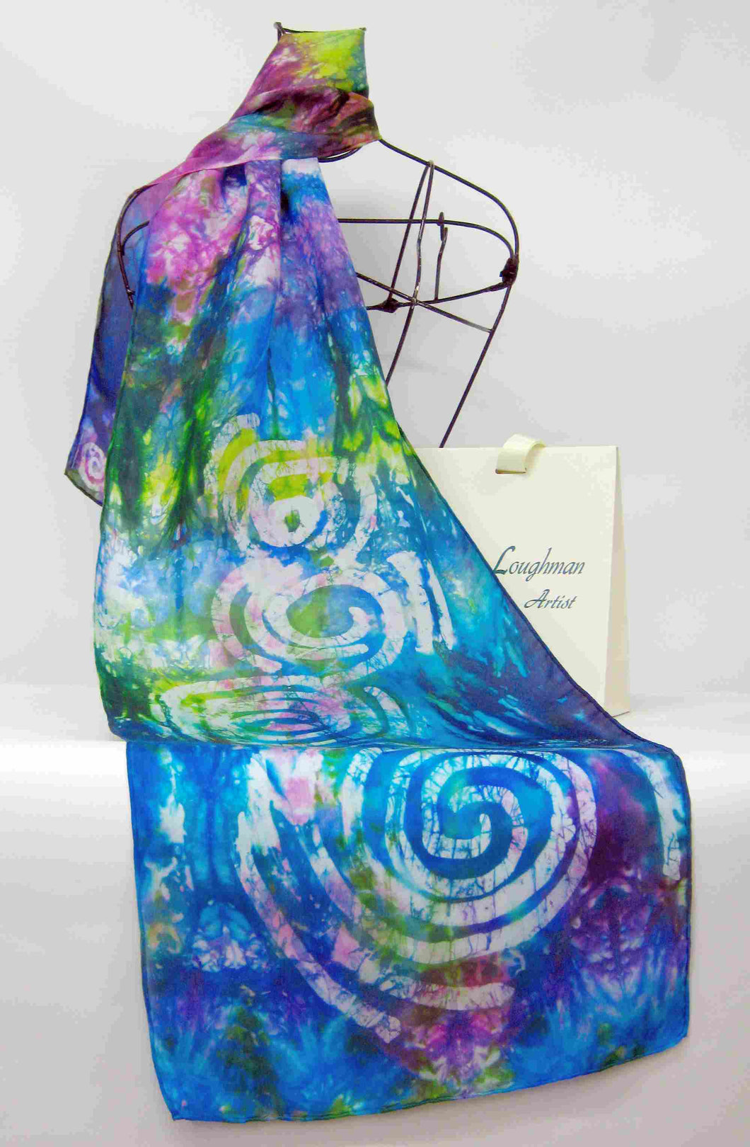 Silk Scarf Spring Blue Celtic