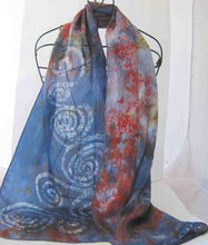 Load image into Gallery viewer, Silk Scarf The Celtic Swallow