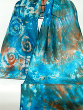 Load image into Gallery viewer, Silk Scarf Celtic Teal Copper