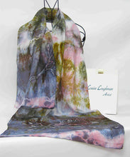Load image into Gallery viewer, Large Silk Scarf The Long Tail Tit
