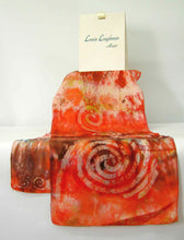 Load image into Gallery viewer, Silk Scarf Celtic Orange Chestnut