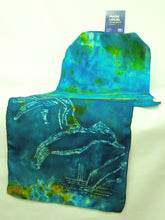 Load image into Gallery viewer, Silk Scarf The Teal Kingfisher
