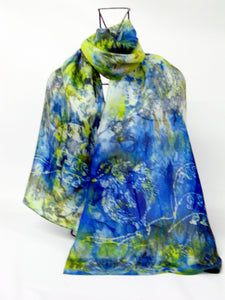 Silk Scarf The Blue Tit wide