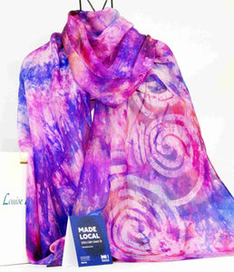 A Large Silk Shawl Pink Lilac Celtic