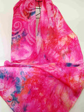 Load image into Gallery viewer, Silk_Shawl_Pink_Spirals