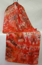 Load image into Gallery viewer, Silk Shawl Rustic Orange Celtic
