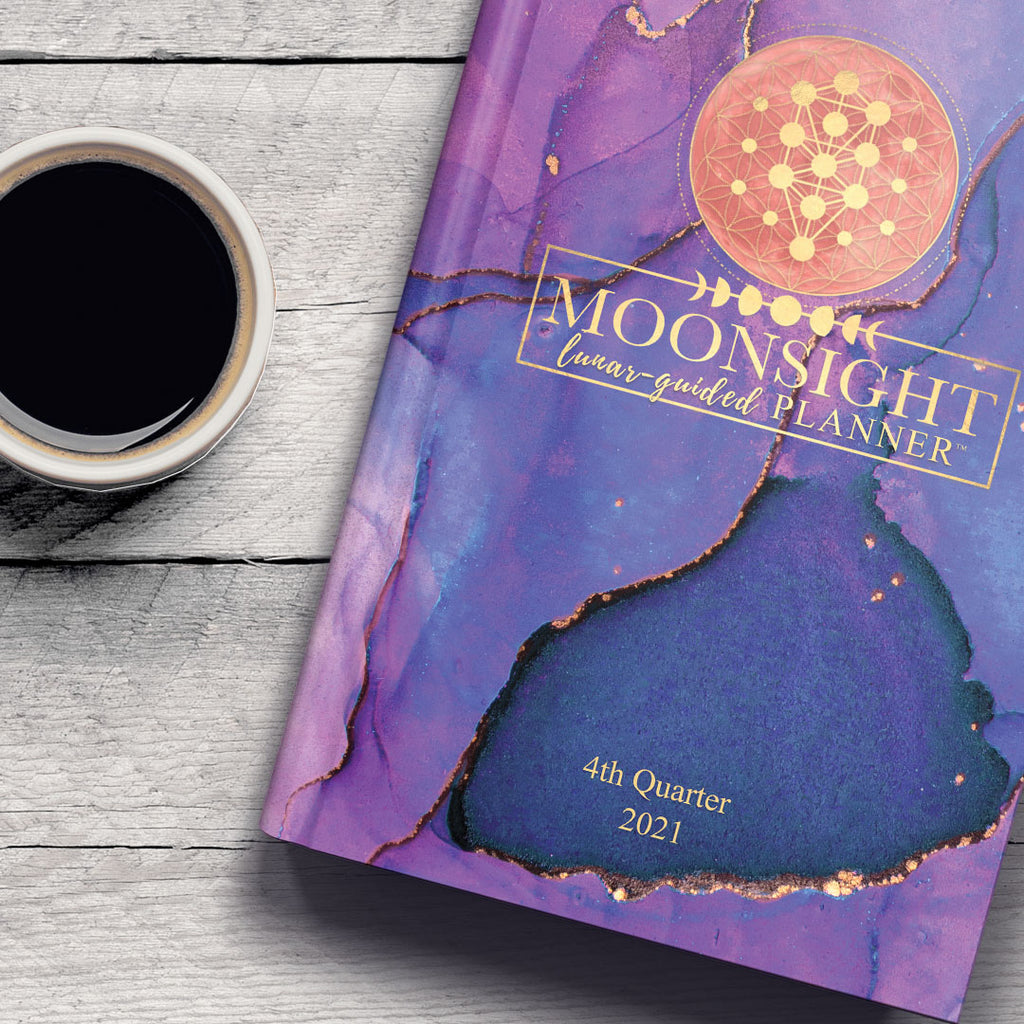 Q4 2021 Lavender Navy - 90-Day Moon Phase Daily Planner Oct.-Dec. 2021 (Softcover)