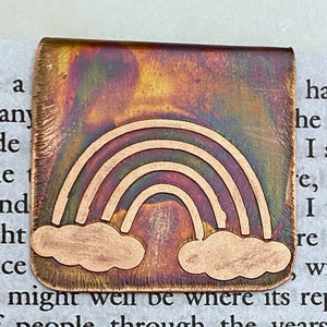 Copper rainbow bookmark
