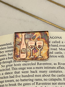 Acid  etched copper wine bookmark