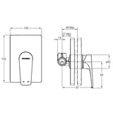 Johnson Suisse Misano Concealed Shower Mixer (External)  (WBFA301307CP)