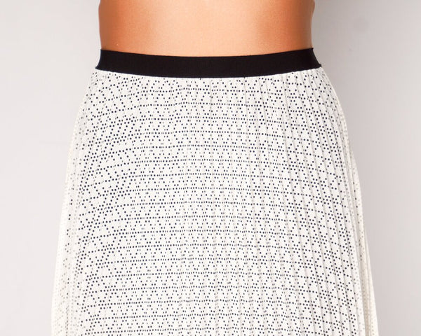 Joie Jacinthe Pleated Laser Cut Dots Skirt NWT (Size XS)