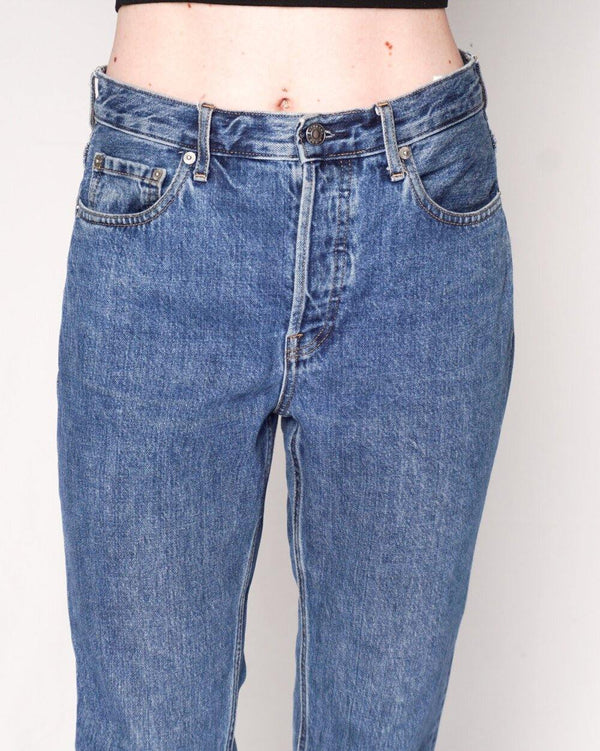 Everlane The High Rise Cheeky Straight Ankle Jean (28) - Fashion Without Trashin