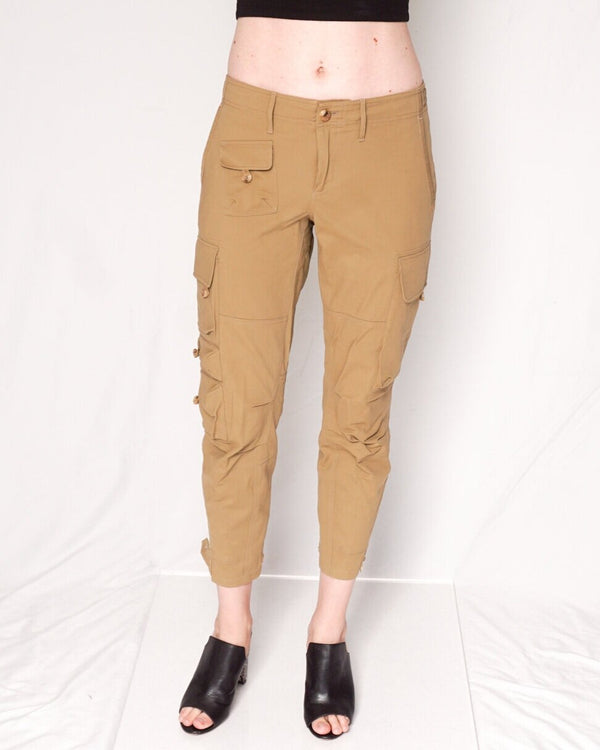 Ralph Lauren Collection Ankle Khaki Pants with Side Pockets (Size 6)