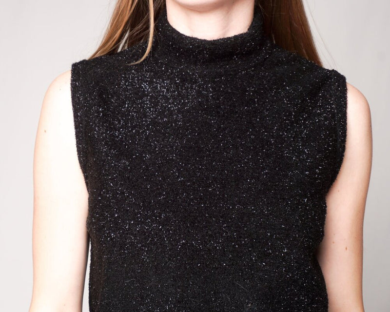 St. John Collection Black Sparkly Sleeveless Top (Size S)