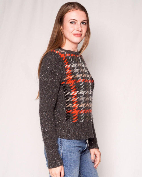 Autumn Cashmere Chunky Knit Houndstooth Sweater (Size M) - Fashion Without Trashin