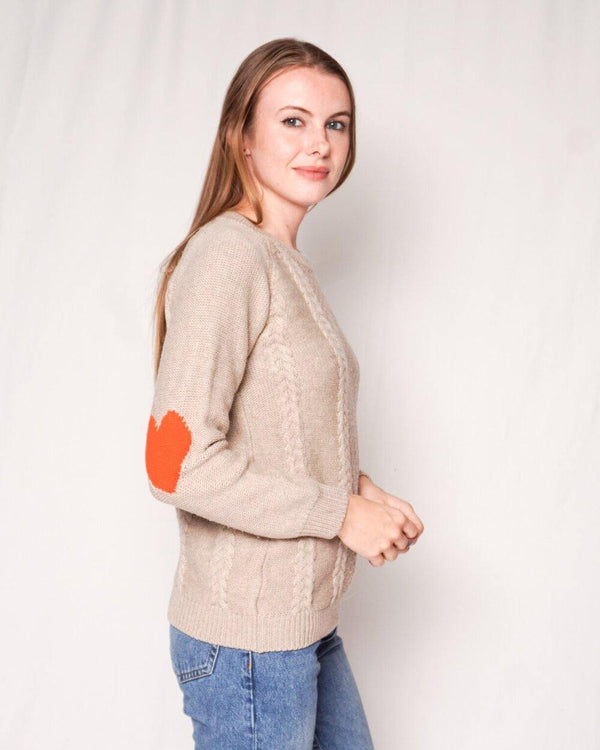 Chinti And Parker Wool Knit Heart Elbows Sweater (Size XS) - Fashion Without Trashin