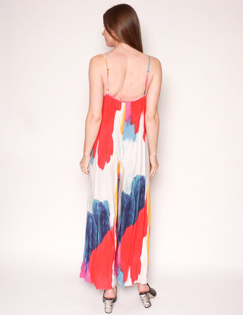 MARA HOFFMAN Swim CARLY Watercolor Wide-Leg Jumpsuit