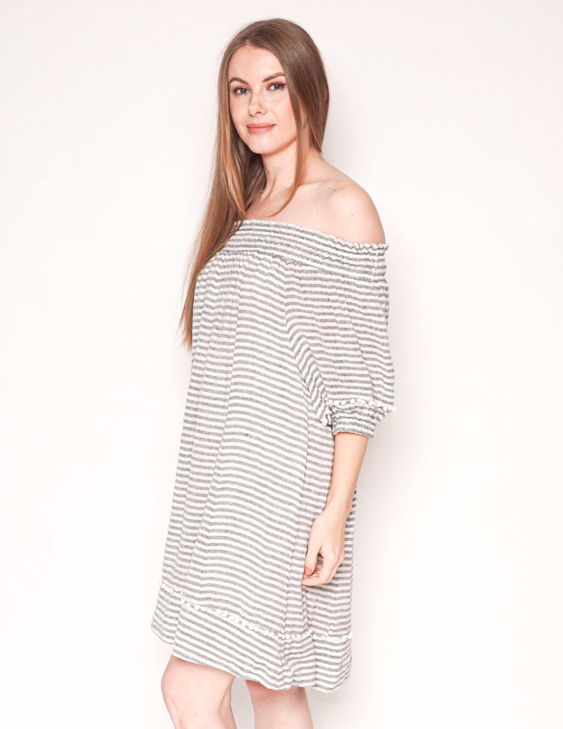 APIECE APART Feluna Off-the-Shoulder Linen Dress - Fashion Without Trashin