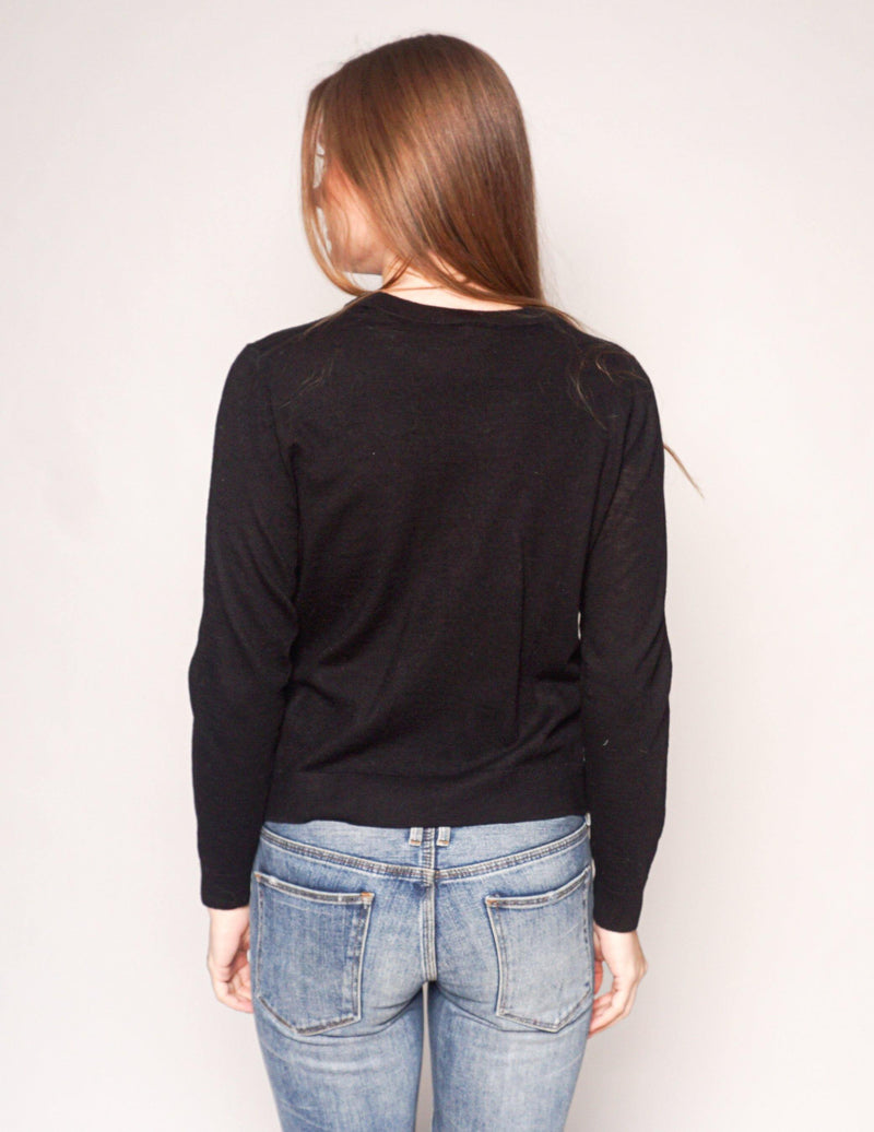 & OTHER STORIES Paris Black Knit Wool Sweater - Fashion Without Trashin