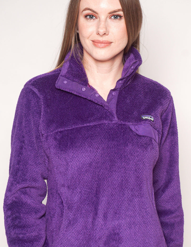 PATAGONIA Purple Re-Tool Snap-T Pullover - Fashion Without Trashin