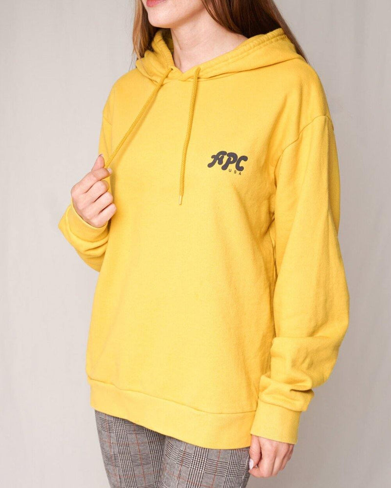 A.P.C. USA Jenny Yellow Cotton Hoodie (Size M ) - Fashion Without Trashin