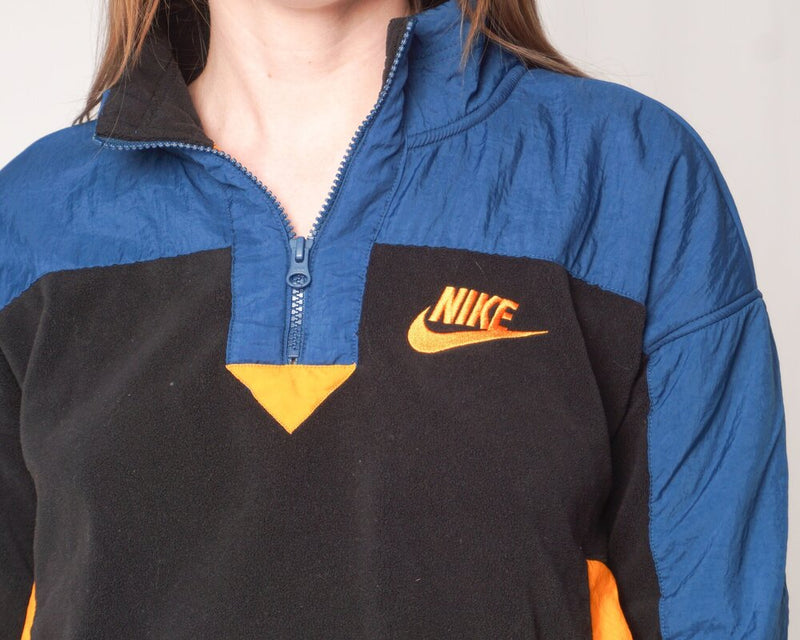 Nike Pullover Fleece Colorblock Jacket (Size S)