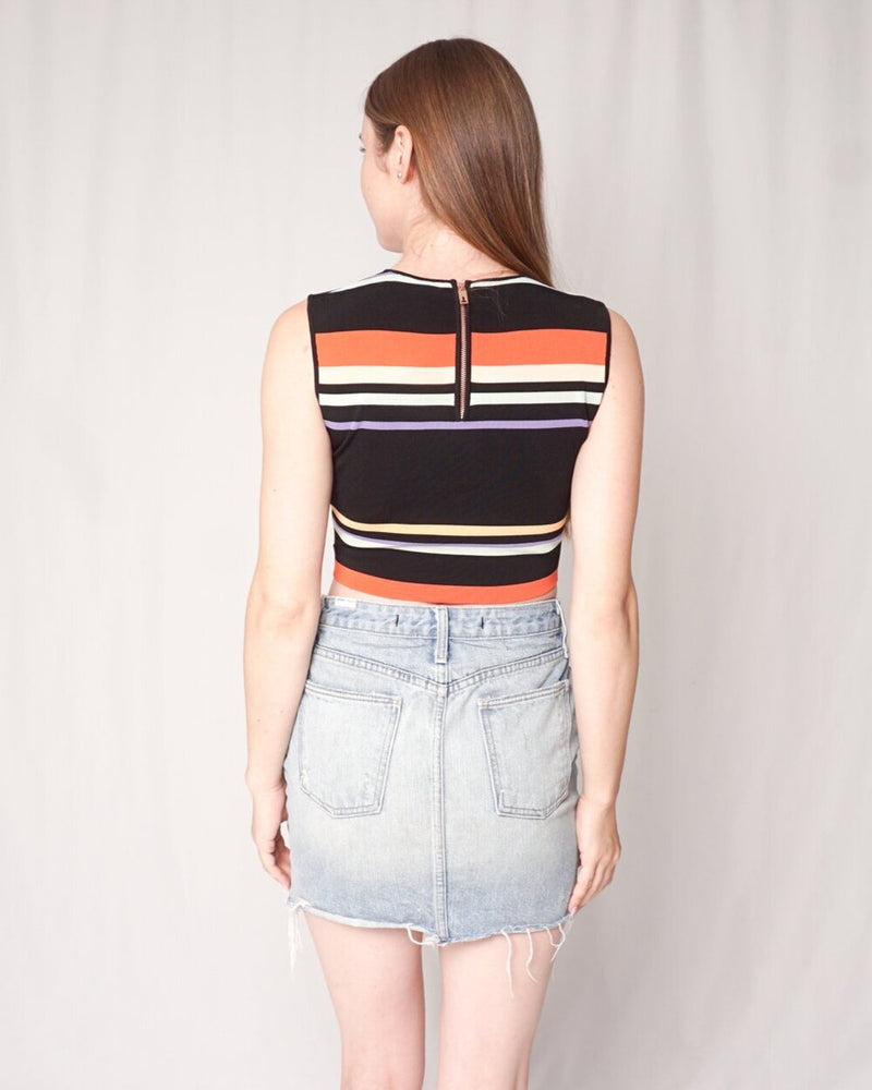 "Ted Baker Striped Knit ""Jeenie"" Crop Top (Size US 0)"