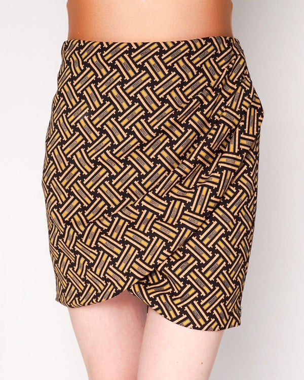 Maison Scotch Reveur De Jour Wrap-Over Mini Skirt (Size 2)
