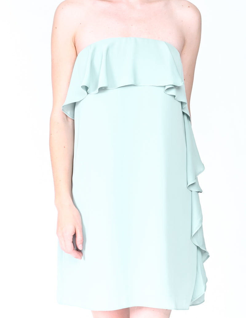 AMANDA UPRICHARD Tally Strapless Ruffle Dress (Size S)