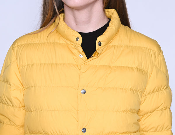 MONCLER Cyclope Yellow Goose Down Quilted Jacket