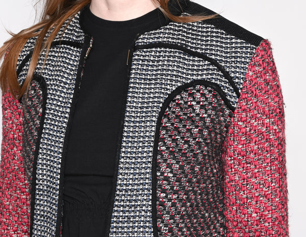 M MISSONI Contrast Tweed Zipper Jacket