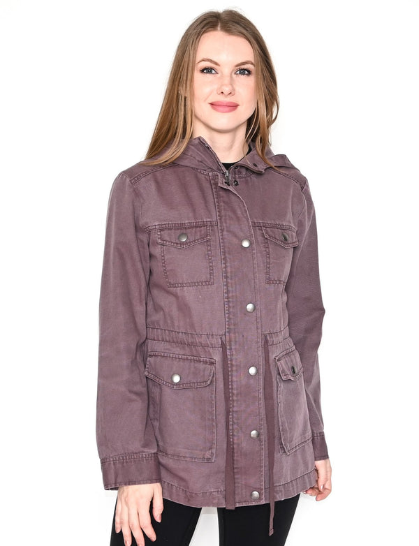 BP. Purple Cotton Hooded Field Jacket