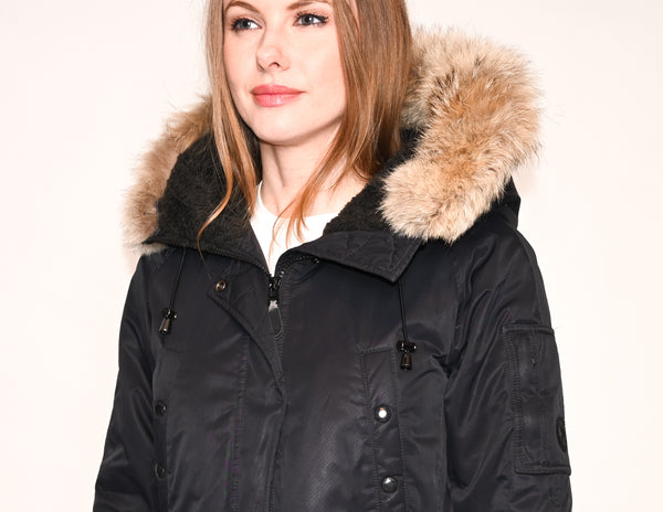 SPIEWAK Aviation N3B Coyote Fur Puffer Parka