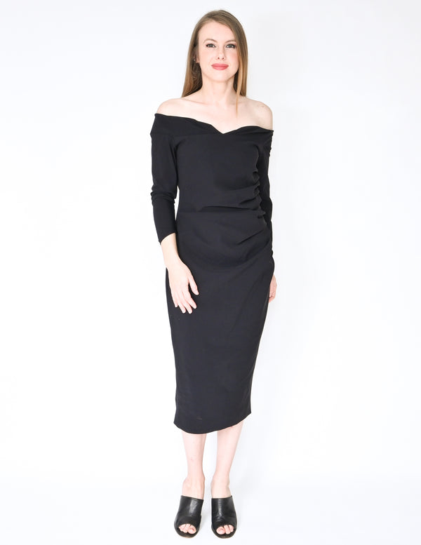 CHIARA BONI La Petite Robe Off-Shoulder Dress (Size 10)