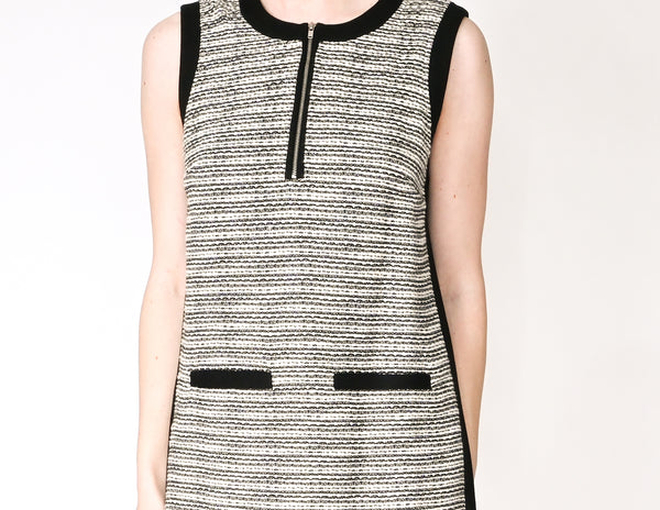 MADEWELL Sleeveless Tweed Shift Mini Dress (Size 4)