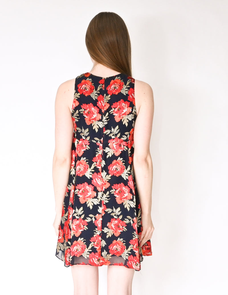 AMANDA UPRICHARD Burnout Flowers Mini Dress NWT (Size S)