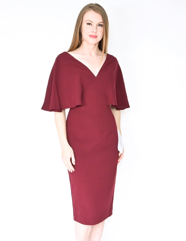 DRESS THE POPULATION Louisa Burgundy Dress NWT (Size XS)