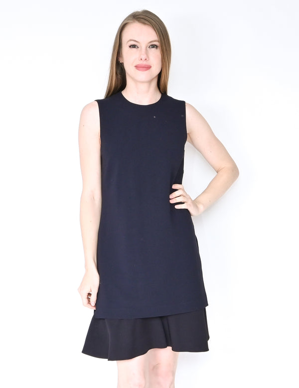 THEORY Sleeveless Malkan Winslow Combo Layer Dress (Size 6)