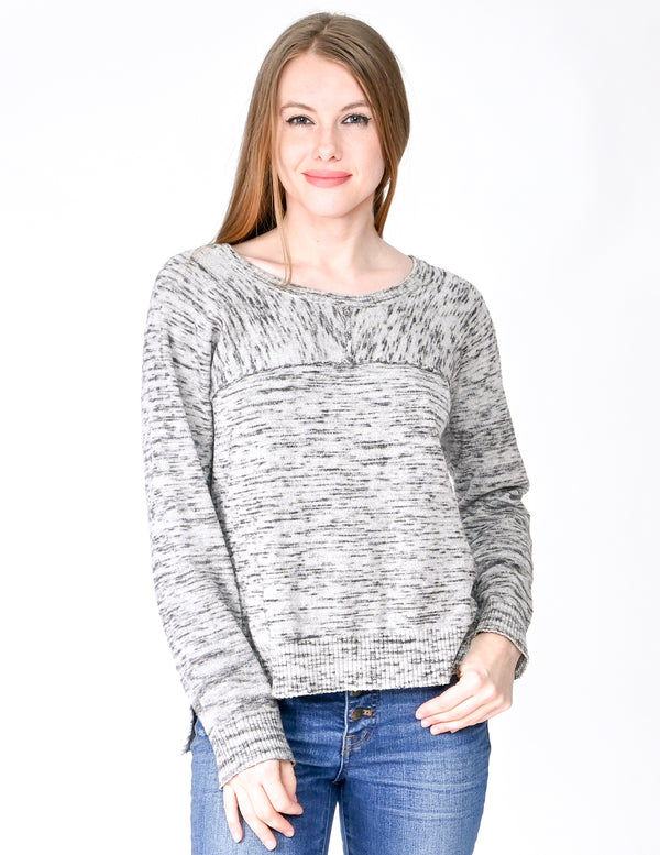 FEEL THE PIECE Wool Blend Gray Knit Sweater (Size XS)