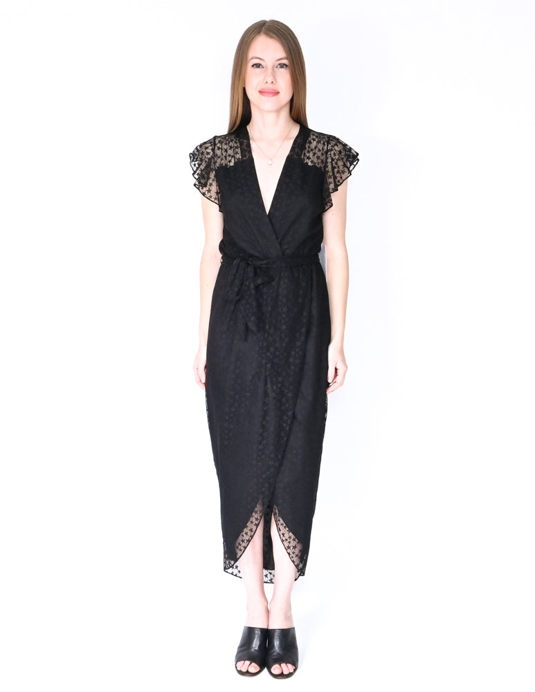 AMANDA UPRICHARD Star Zelle Black Midi Dress NWT (Size S)