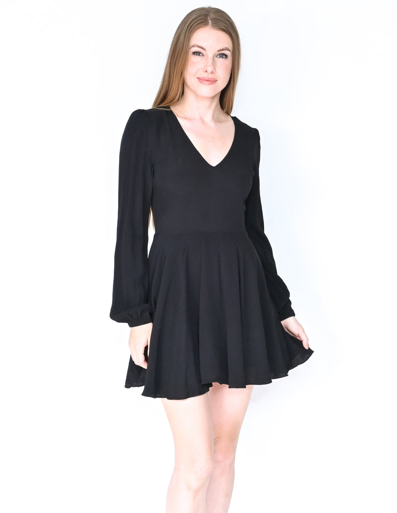 LOVERS + FRIENDS Blouson Long Sleeve Mini Dress (Size M)