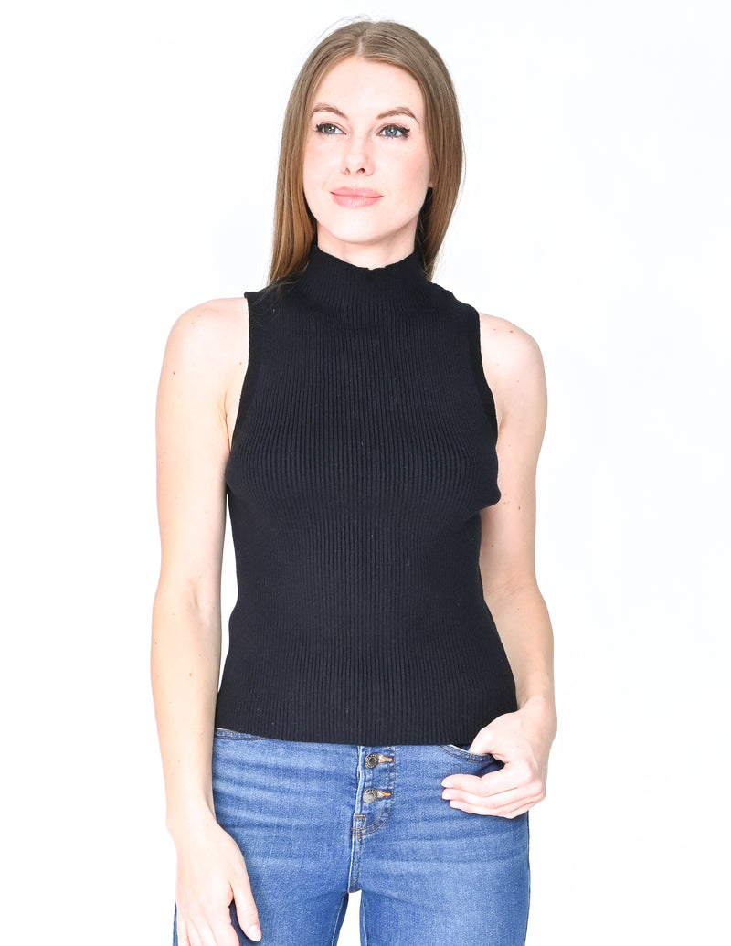 MODERN CITIZEN Toni Sleeveless Mock-Neck Sweater (Size M)