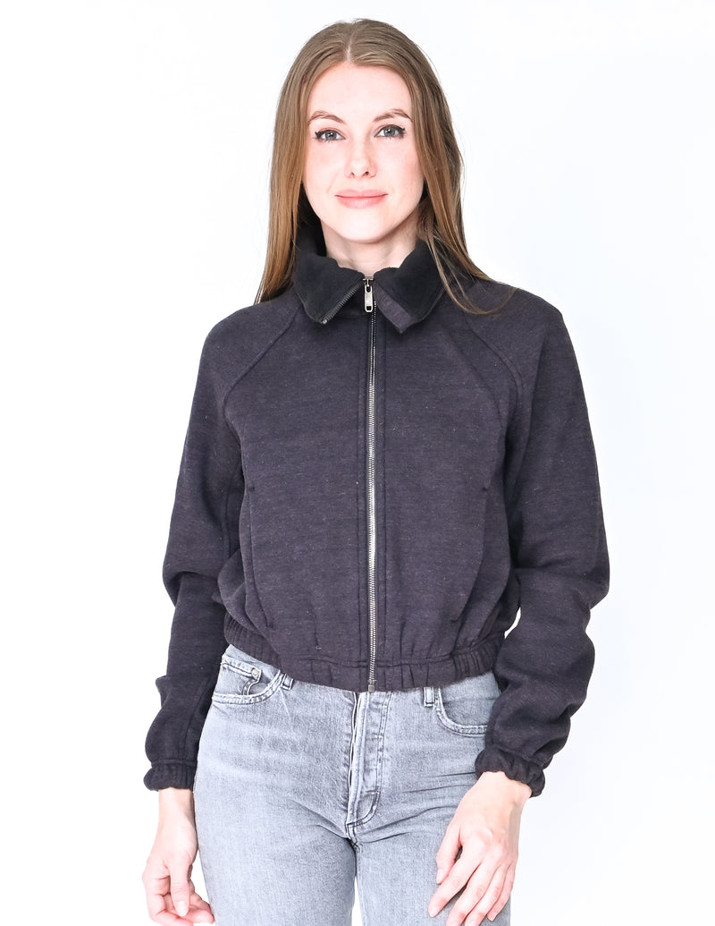 LULULEMON x FLYWHEEL Cropped Fleece Zipper Jacket (Size 6)