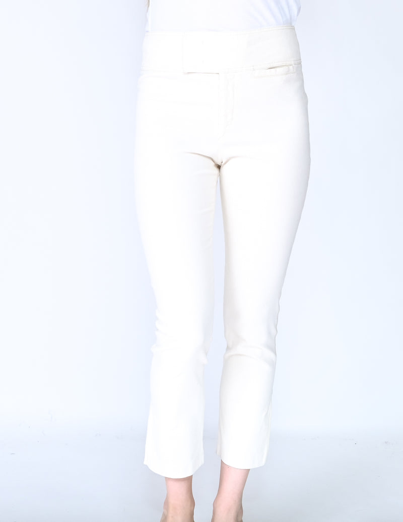 ISABEL MARANT Cream Skinny Cropped Pants (Size 6)